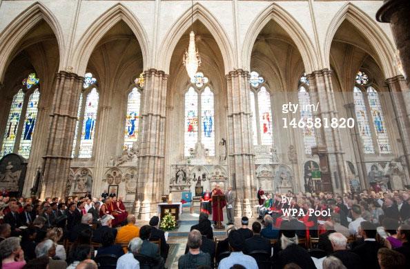 Dalai Lama Visits Westminster Abbey