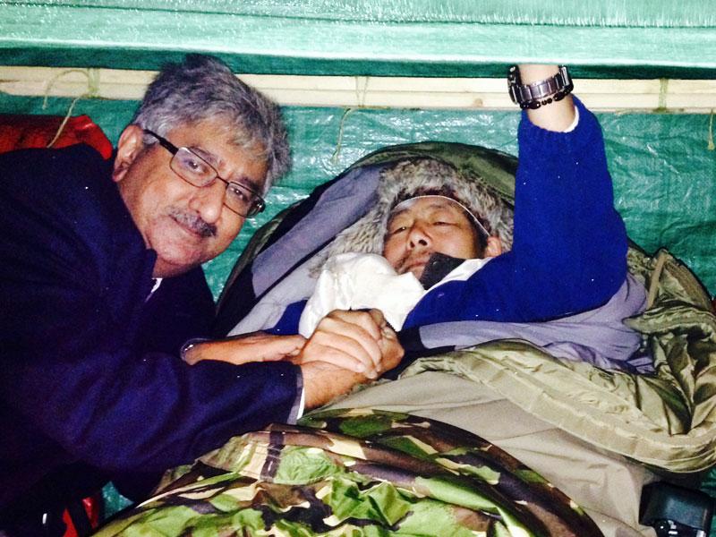 Gurkha Hunger Strike at the MOD Building opposite 10 Downing Street